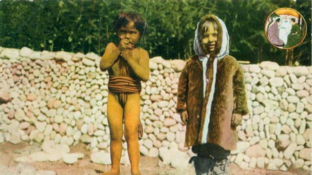 children in human zoo