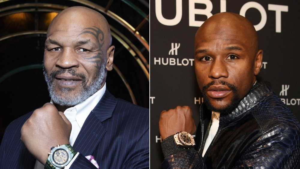 Mike Tyson and Floyd Mayweather
