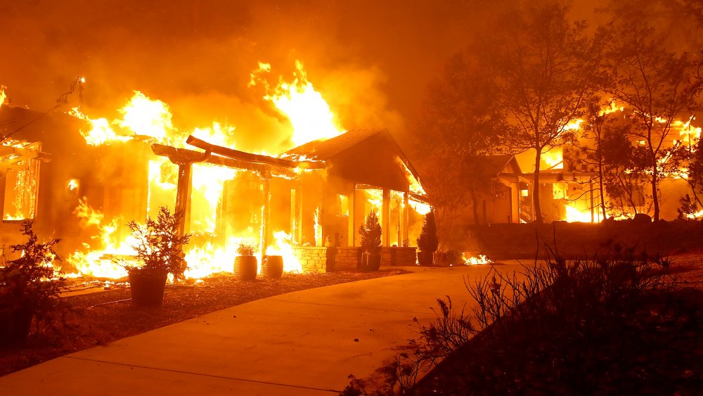 Fire caused by PG&E in Paradise, California