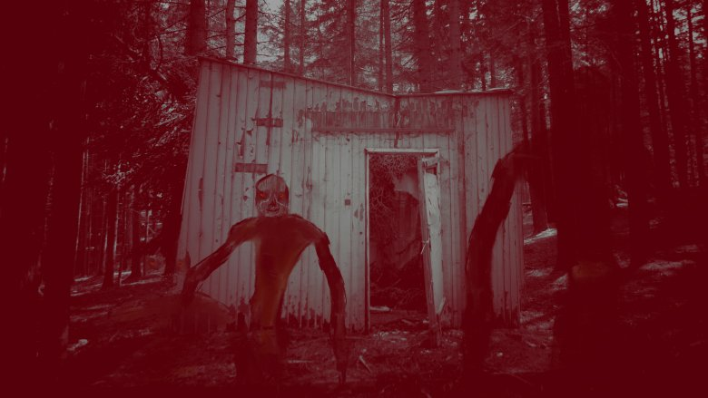 creepy forest shack