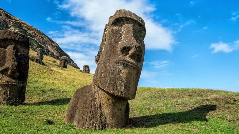 easter island moai head