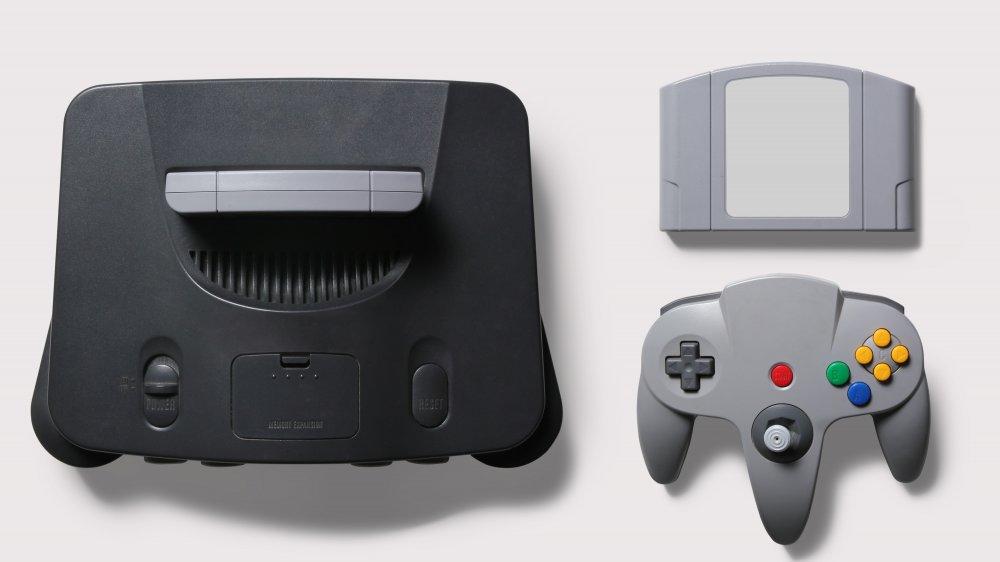 Black N64 console
