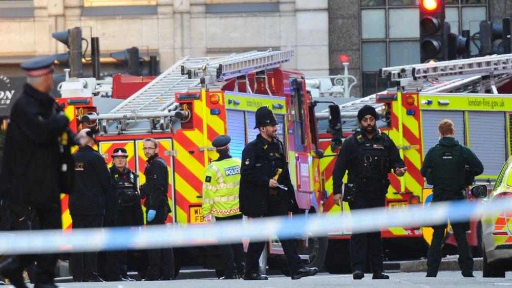 a very british crime scene