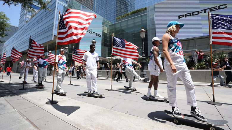 The U.S. Olympic skateboarding team