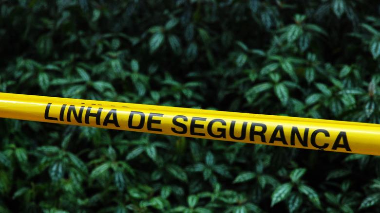 Brazil police tape