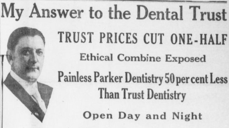 painless parker newspaper ad