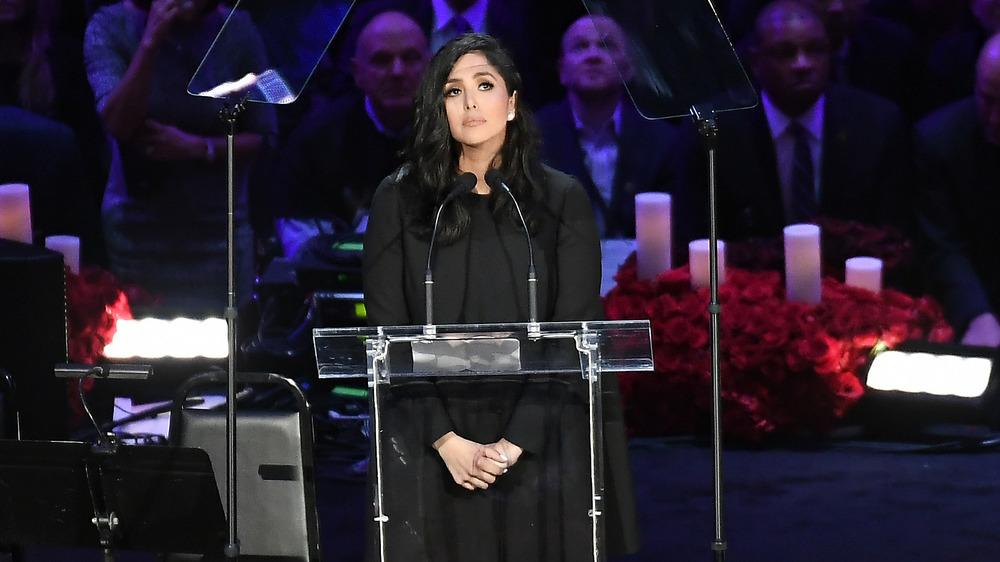 Vanessa Bryant at Kobe's funeral