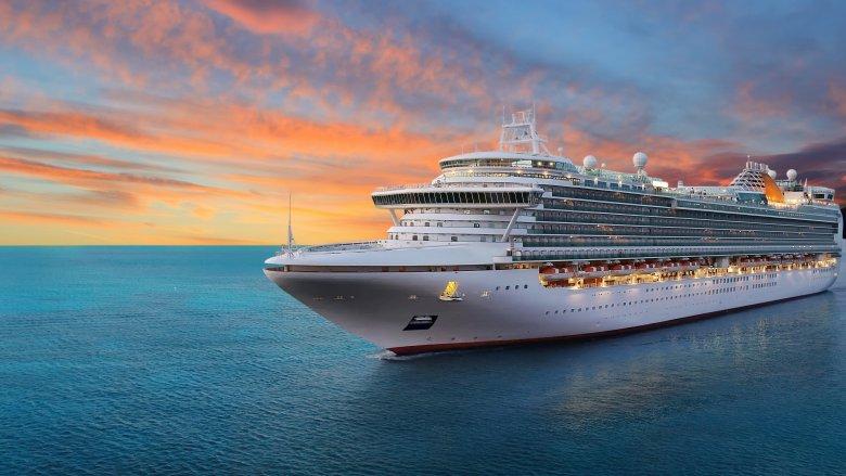 Cruise ship on the open sea