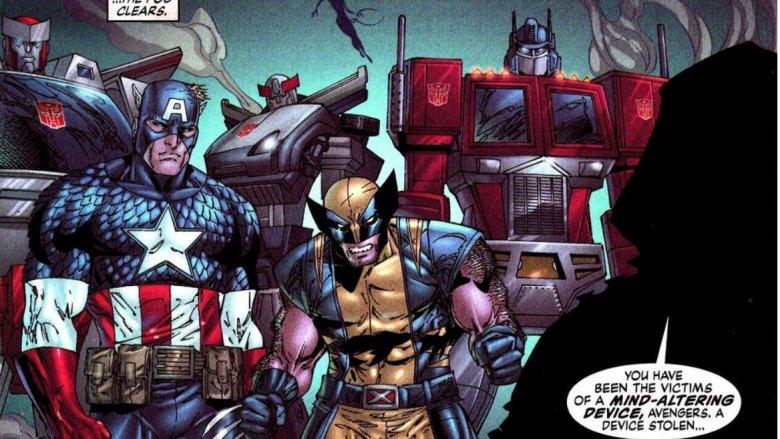 Wolverine Captain America Optimus Prime Transformers Avengers Marvel