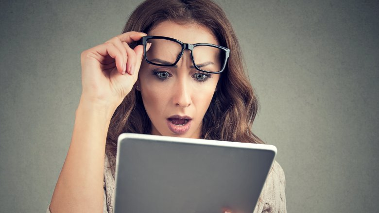 woman surprised website