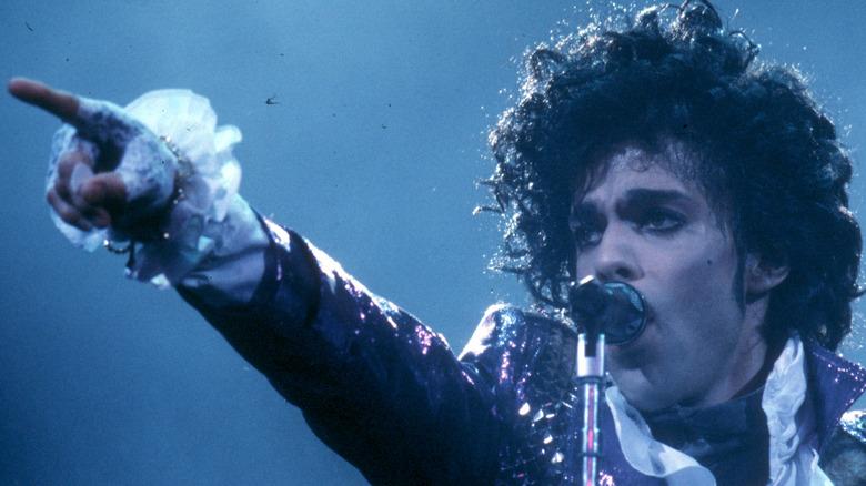 Prince performs in 'Purple Rain'