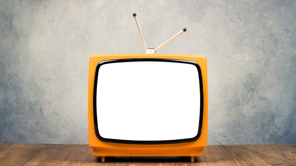 Retro TV with blank screen