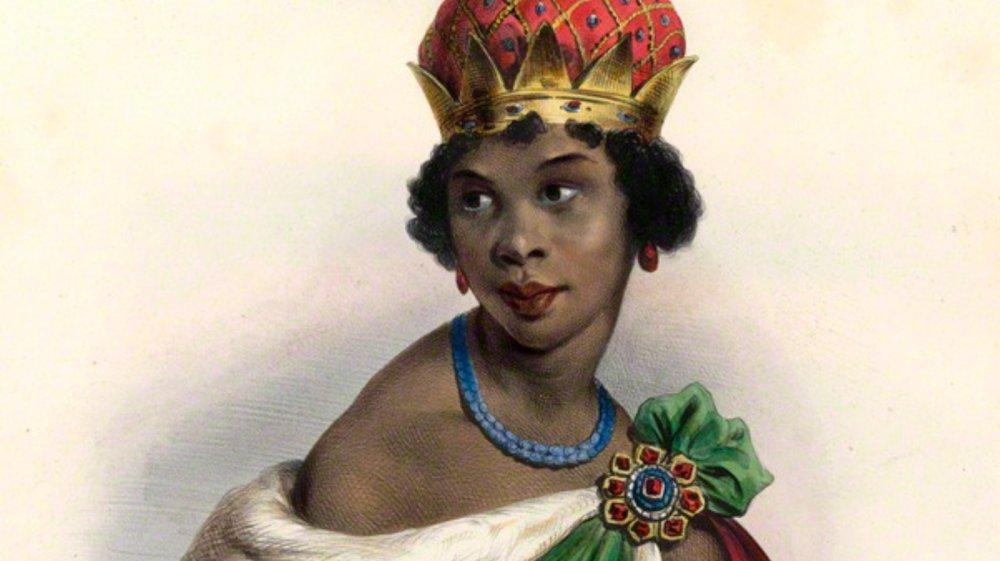 Achille Devéria's lithograph of Queen Ana Nzinga Mbande of Ndongo and Matamba (1583-1663)