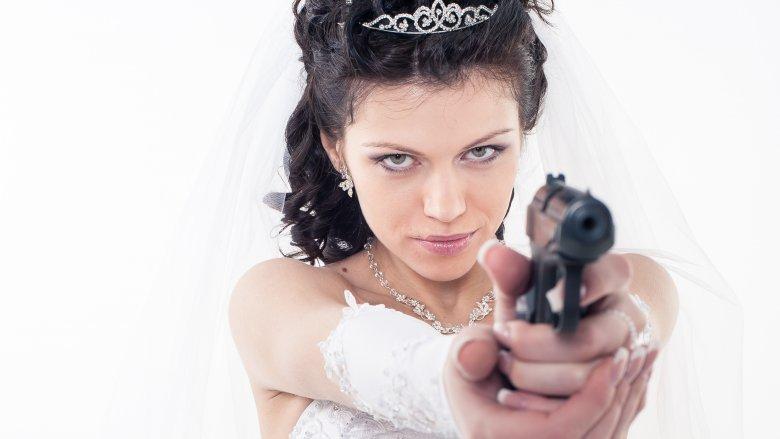 Bride with gun