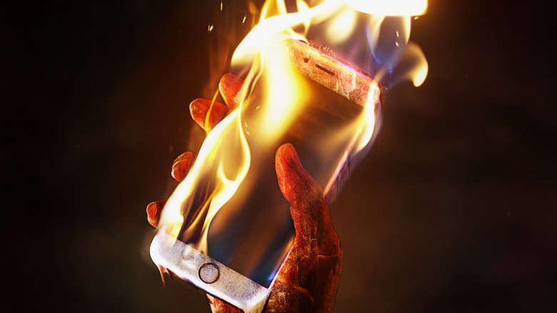 phone burn fire