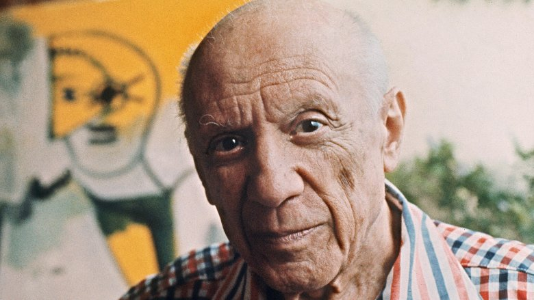 Pablo Picasso looking serious