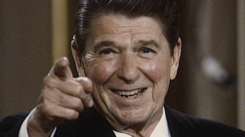 Ronald Reagan pointing