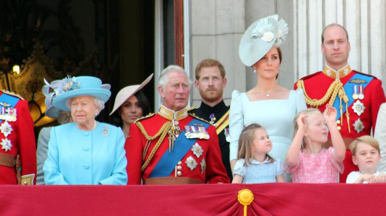 British royal family on balcony