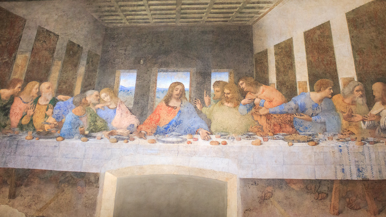 painting of Jesus and apostles