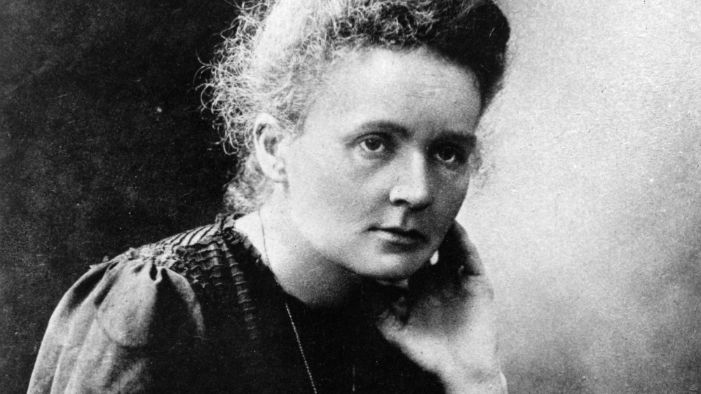 A photograph of scientist Marie Curie.