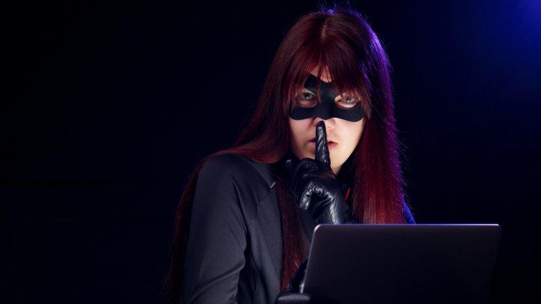 sneaky computer hacker