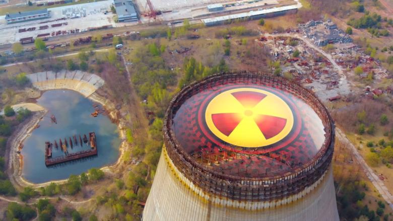 Chernobyl nuclear reactor's contamination symbol