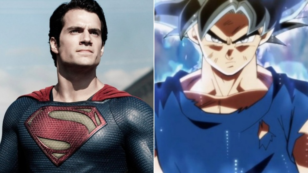 Henry Cavill as Superman in Man of Steel / Goku from Dragon Ball Z