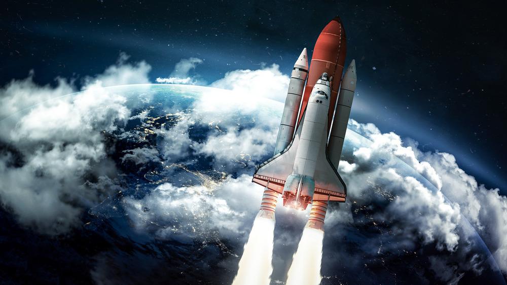 space shuttle earth