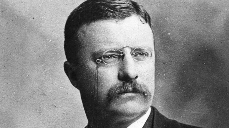 Theodore Roosevelt looking on