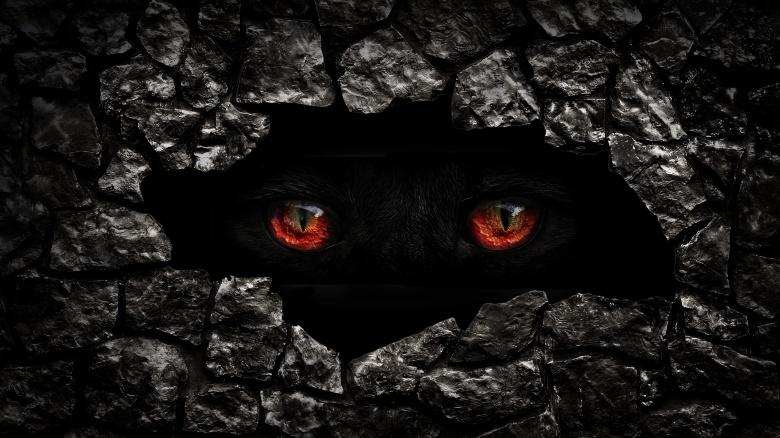 creepy monster eyes