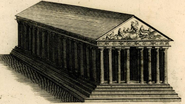 Parthenon before explosion