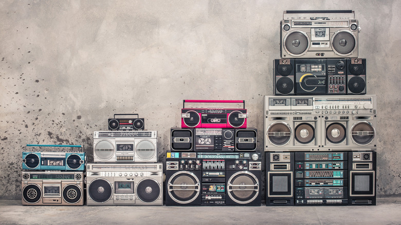 1980s boomboxes