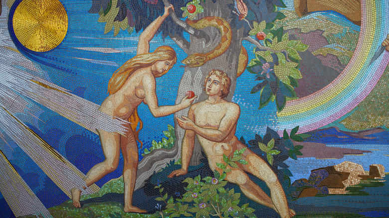 Mosaic of Adam and Eve