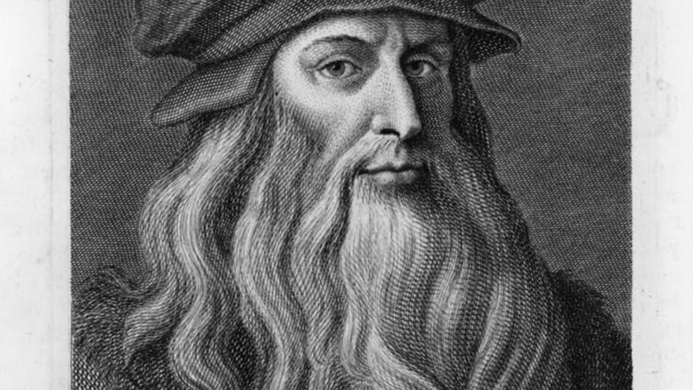 Portrait of Leonardo da Vinci with beard
