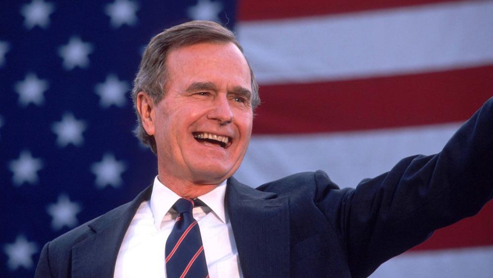 George H.W. Bush waves