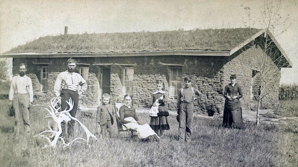 Family's sod house