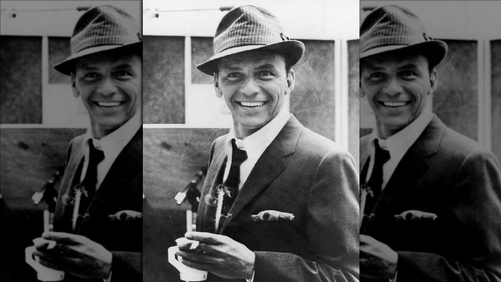 Frank Sinatra with cigarette