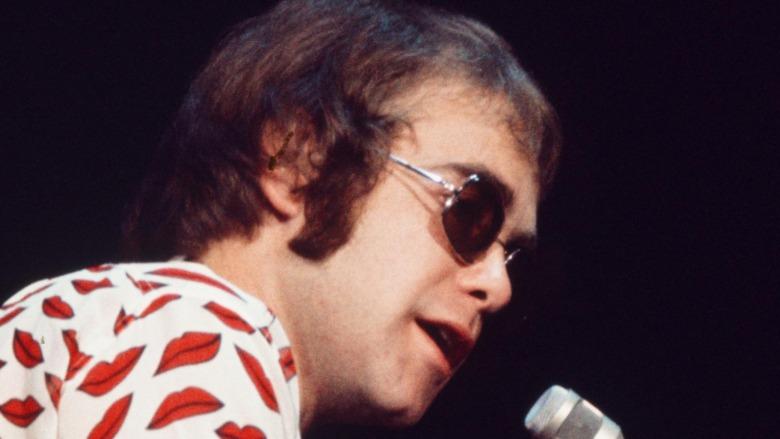 Elton John on stage, 1974