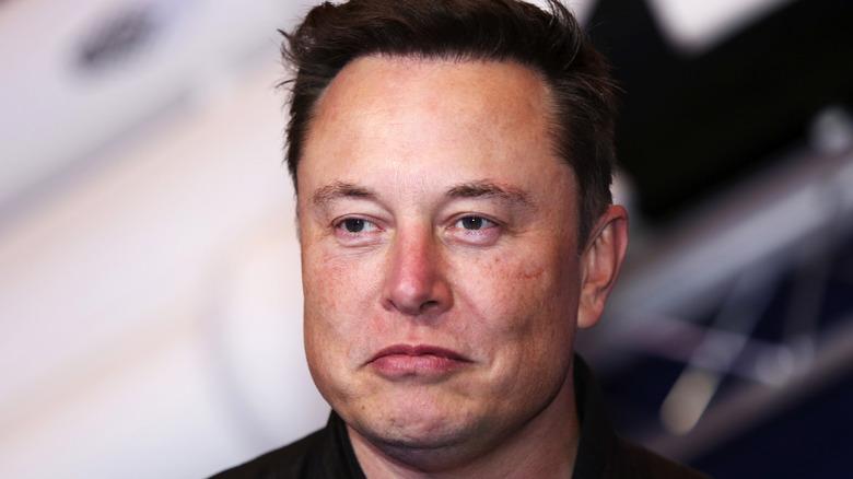 Elon Musk scowling