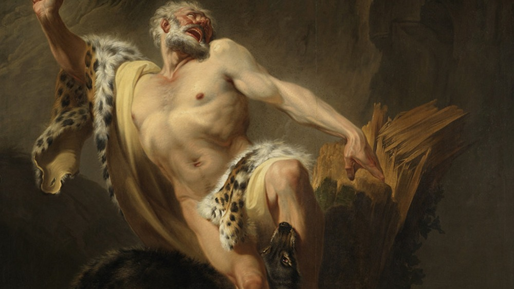 Milo of Croton and wolves