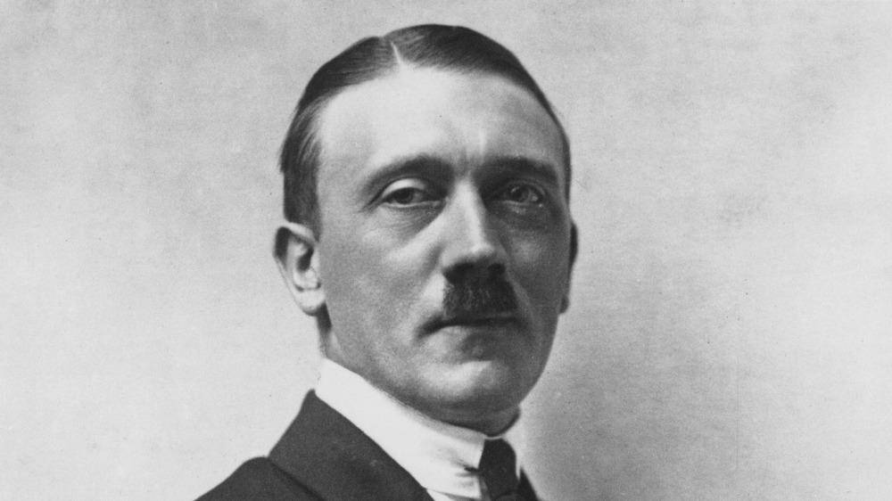 Adolf Hitler posing