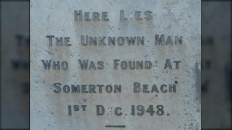 Somerton Man's grave marker