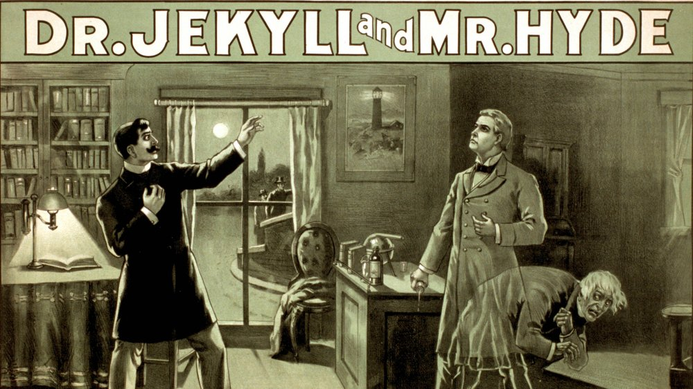1888 theatrical poster for a stage production of Dr. Jekyll and Mr. Hyde