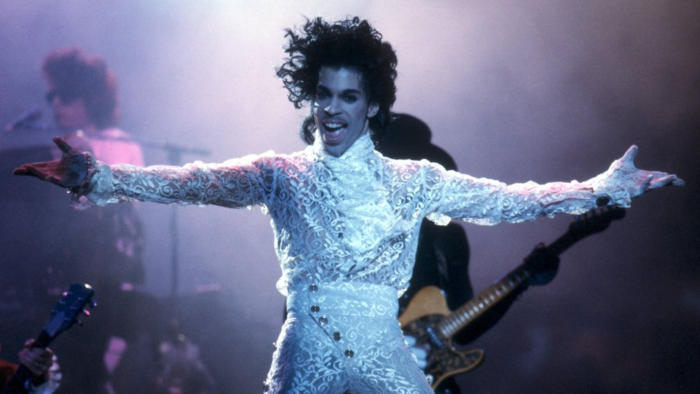Prince performs in 1985 at the Fabulous Forum in Inglewood, California