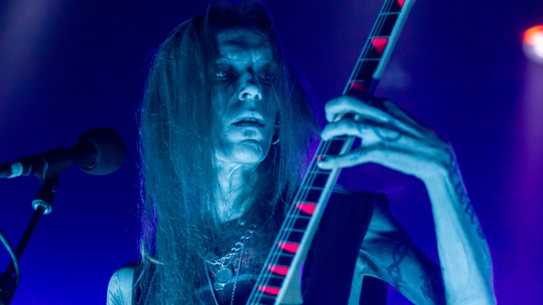 Alexi Laiho Children of Bodom performing on stage