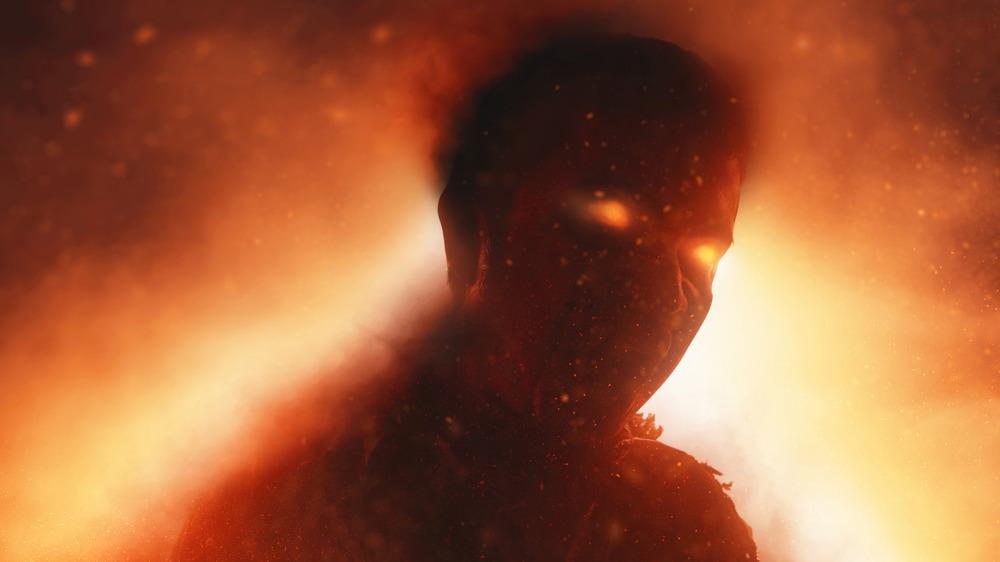 A fiery depiction of the Devil