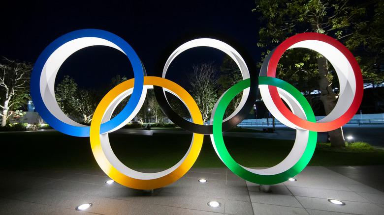 Five Olympic Rings in Japan