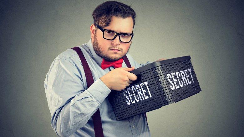 man with secret
