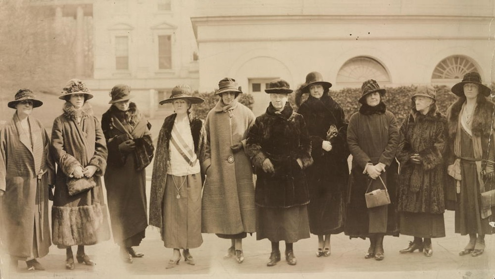 Ten National Woman's Party members march on Washington to protest for the ERA in 1924