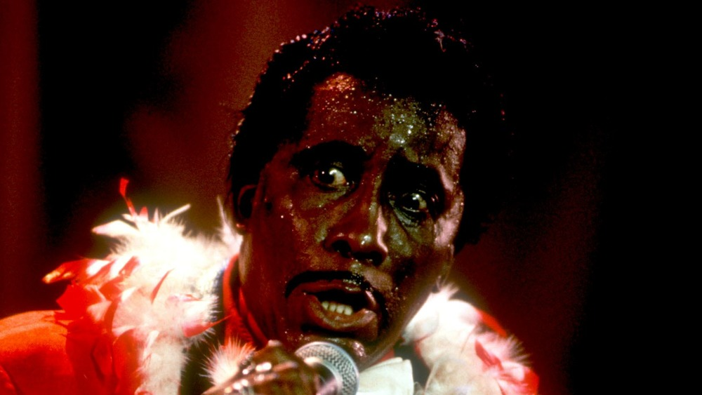 Screamin' Jay Hawkins performs at the Chicago Blues Festival in 1996